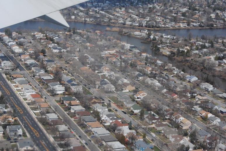 Widok na Nowy Jork z samolotu