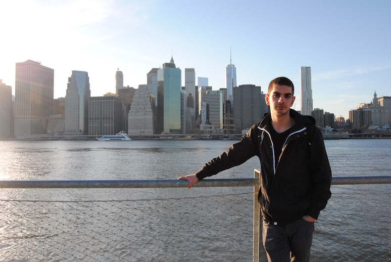 Panorama Manhattanu z Brooklyn Hights