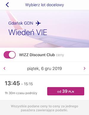 Ceny lotów do Wiednia