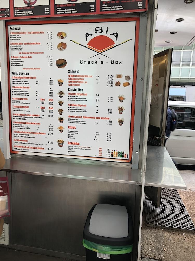 Oferowane menu
