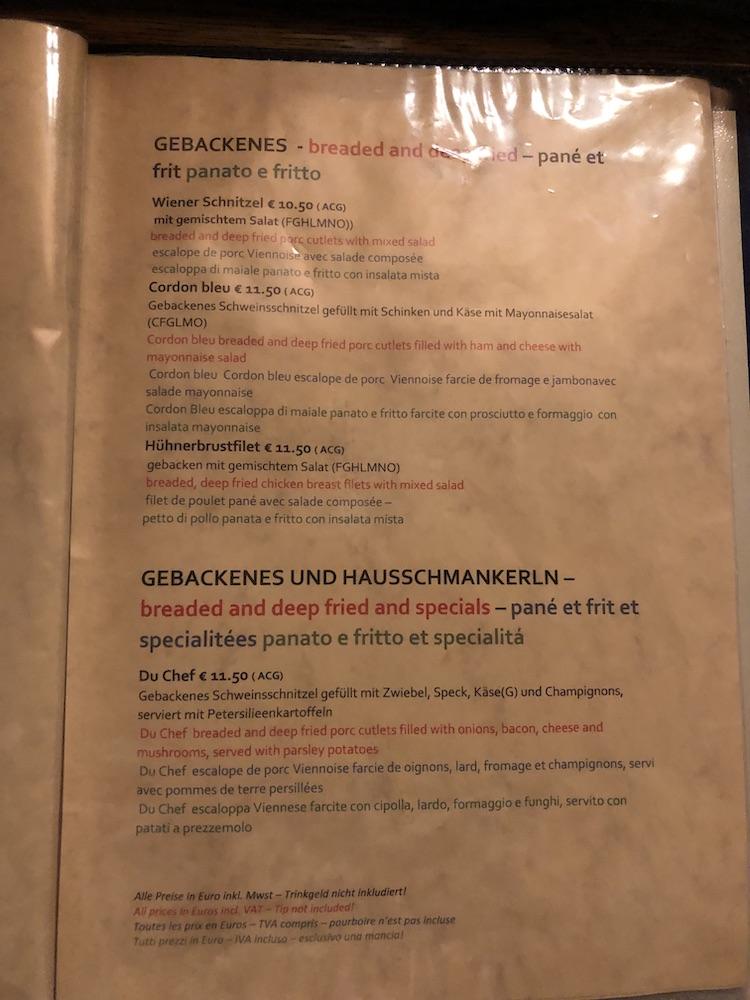 Tak Gasthaus Kopp wygląda w środku menu