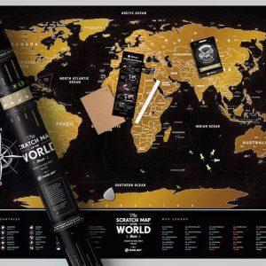 Zdrapywalna mapa Świata