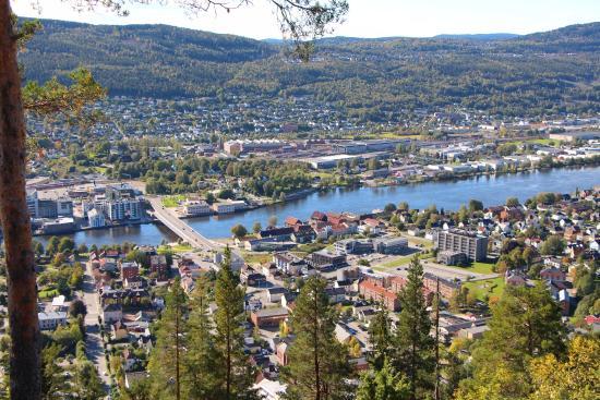 Widok z góry Drammen Spiralen