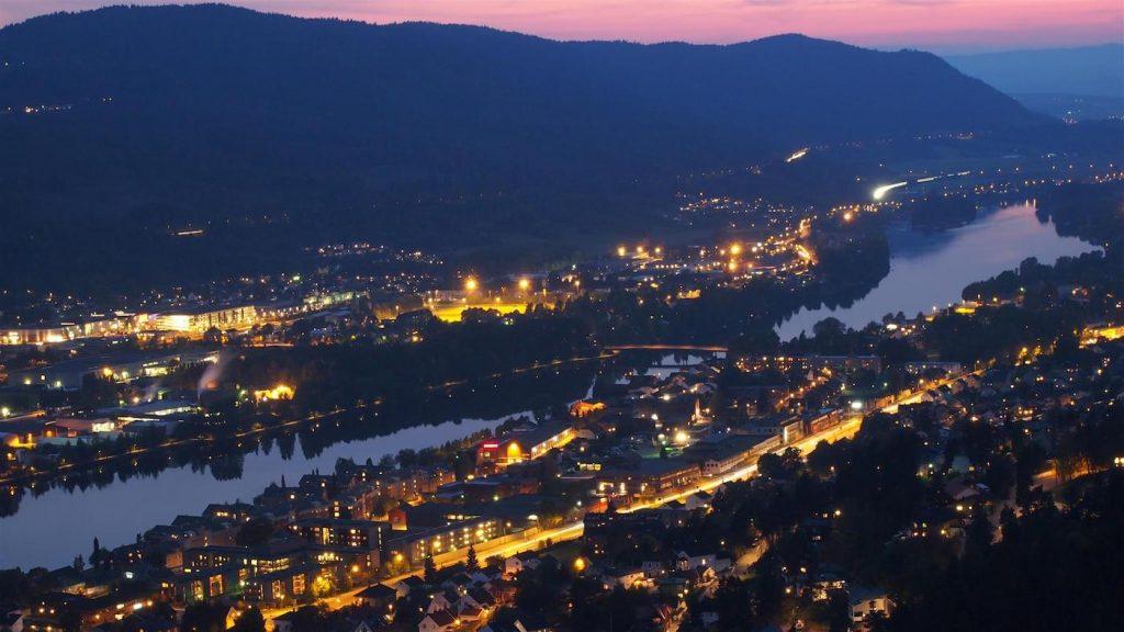 Widok na Drammen