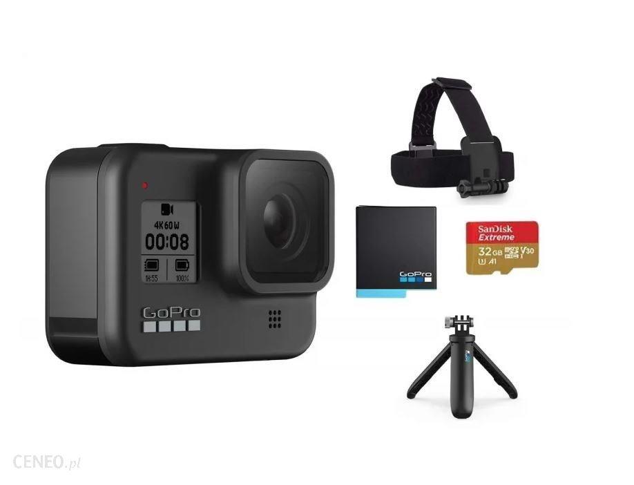 Kamera sportowa GOPRO HERO8 Black + zestaw akcesoriów
