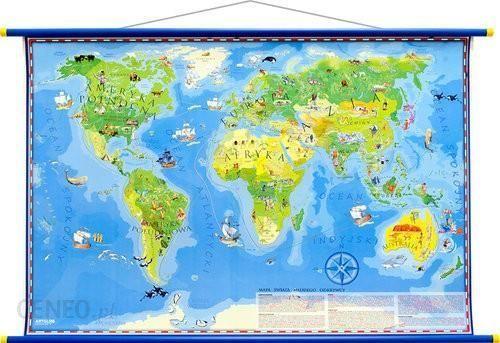 Mapa Ścienna Dla Dzieci - Świat Młodego Odkrywcy MIDI