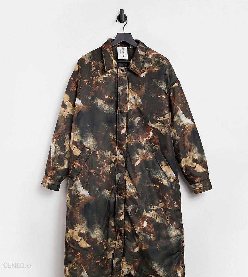 Nylonowy płaszcz przeciwdeszczowy ze wzorem COLLUSION Unisex